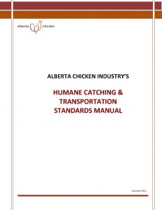 Alberta's Humane Catching & Transportation Standards Manual (December, 2019)